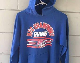 New York Giants Super Bowl 21 hoody sz Womens L/ Kids Xl / Mens M
