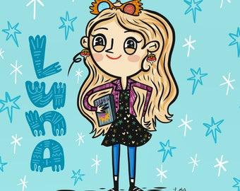 Luna Lovegood Harry Potter Fan Art Illustration