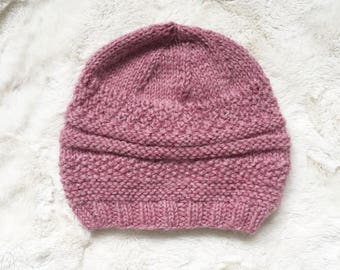 Pink Patterned Beanie