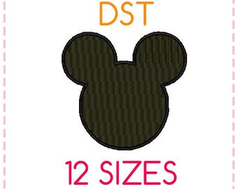 12 SIZES Mickey Mouse Embroidery Design Fill Stitched DST Format,Embroidery Designs ,Machine Embroidery,Mickey Mouse Head,Instant Download