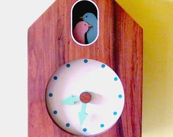 Wall clock, Desk Clock, Clock-natural veneer