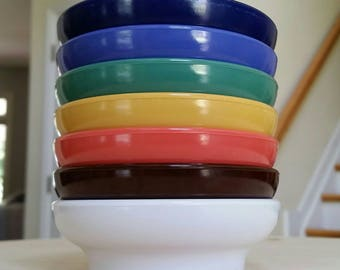 Set of 7 - Gessner Salsa Bowls - Some Rare/Discontinued Colors - Instant Collection
