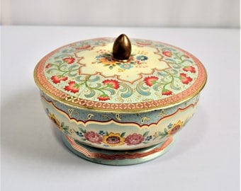 Vintage Belgian-Made Canister/Collectible Tea Tin