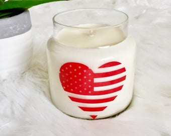 U.S. Flag Soy Candle - Red Heart