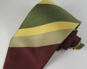Vintage 1970's HARRODS, LANVIN Paris Silk Tie, Gifts for Him, Gifts for Husband, Wedding, Christening, Birthday, Father's Day, Christmas
