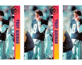 5 - 1993 Ballstreet Troy Aikman Football Card Lot Dallas Cowboys