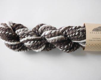 Brown Grey And White Yak Down Fiber Hand-Spun Yarn