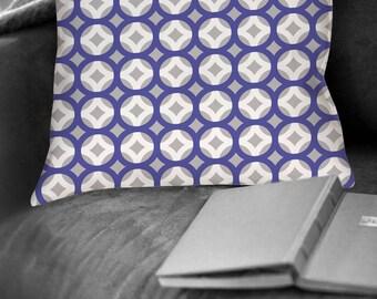 Pillow, Throw Pillow, Pillow Cover, Cushion, Decorative Pillow, Contemporary modern home decor, Modern Purple white gray