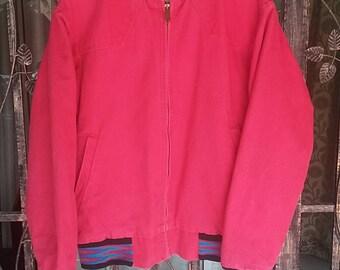 Vintage Saddle king western Jacket/red/medium/made in usa/cowboy