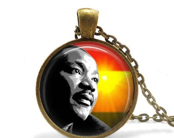 Martin Luther King Necklace / MLK Pendant / Dr King / Civil Rights