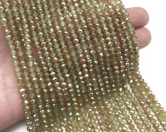 4*3mm Glass Rondelle Beads