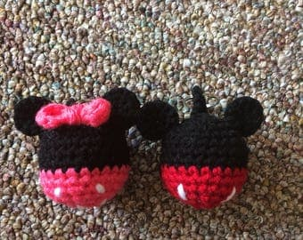 Mickey or Minnie Mouse Keychain