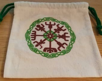 "Embroidered pouch ""Vegvisir Sylvestre"""