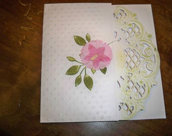 pretty white card