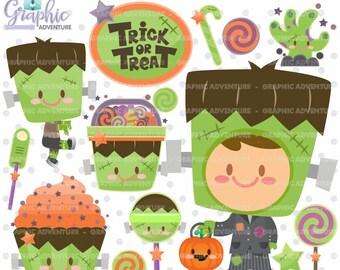 75%OFF - Halloween Clipart, Halloween Graphics, COMMERCIAL USE, Frankenstein Clipart, Frankenstein Graphic, Pumpkin Clipart, Pumpkin Graphic