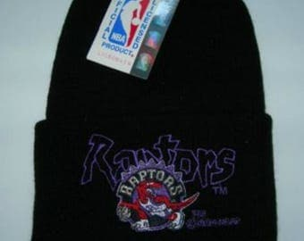 Vintage Toronto Raptors NBA basketball big script  beanie by Rossmor ind. ohio new with tags made in usa