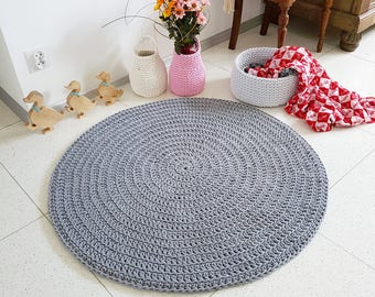 PROMOTION! Many colors Baby nursery carpet round crochet rond tapis enfant alfombra trapillo hippie shabby teppich rund floor houseware