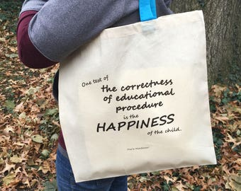 Montessori Quote Tote