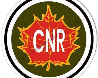 "Vintage Style "" CNR - Canadian National Railway "" Railroad / Train Metal Sign"