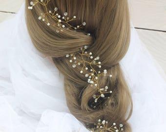 Bridal Crystal wreath prom hair accessories hair wreath Crystal Headband hair piece wedding hair piece bridal hair vine wedding wreath
