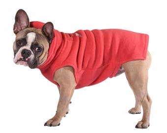 1.  CORAL Polartec 200 Dog sweater (Limited color) soft, cozy warm french bulldog, pug, boston terrier, coat