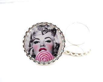 Ring pinup Rockabilly - Marilyn retro vintage