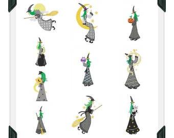 Witchy ( 10 Machine Embroidery Designs from ATW )  XYZ17I