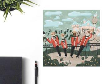 Disney Castle Art, Dapper Dans Disney Art Print, Disney Christmas Gift, Retro Disney Parks, Co-Worker Christmas Gift Idea, Disney Lover Gift