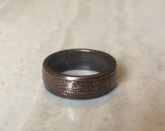 Early Chinese 10 Cash Coin Ring