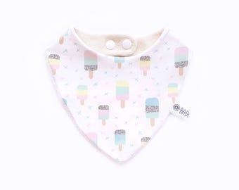 Bib bandana 100% cotton organic ice cream