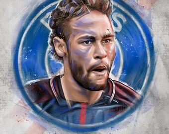 Neymar Football Artwork Print