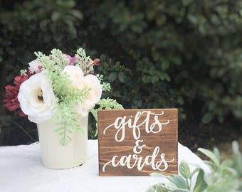 Rustic wedding sign gifts and cards sign rustic wedding decor gift table sign wedding sign wedding decor rustic wedding decor decorations