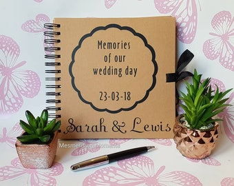 Memories of our Wedding Day / Bride / Groom / Wife / Husband / Guestbook / Custom / Personalised Decal for Journal or Notebook
