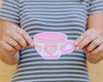 Pink Teacup Patch // Disneyland // Mad Tea Party