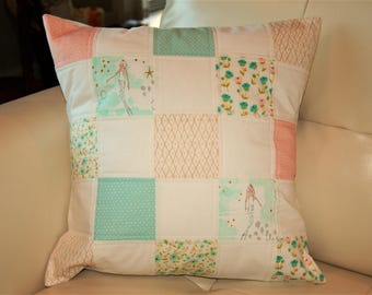 Mermaids and Flowers Throw Pillow Cover