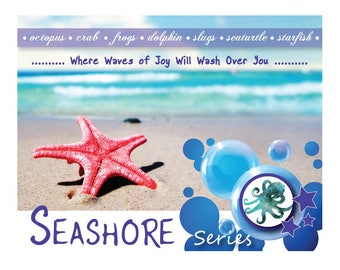 Seashore Series - Octopus Waltz – Genuine Lampwork Glass Octopus Kraken Abalone and Peridot Cluster Necklace Set - COMING SOON!