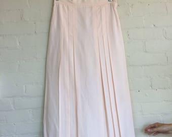 Pink pleated midi skirt tennis skirt long skirt pleats