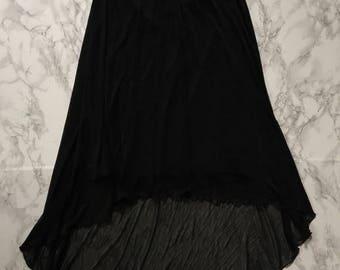 20% OFF SALE... 90s high-low black mesh skirt