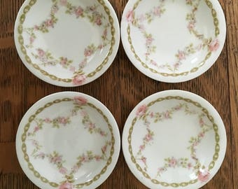 4 Limoges Butter Pats
