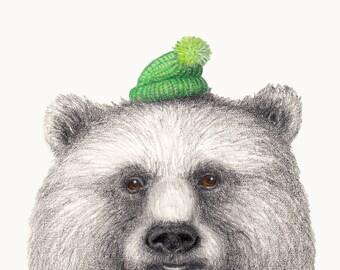 Winter Woollies Bear Print - Made to Order