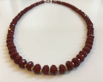 Red Jade Necklace (Bead Collection)