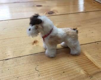 Vintage Terrier Dog Toy Real Fur Collectors