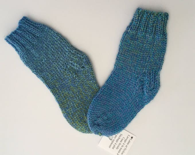 Hand knitted low in Merino and Nylon baby 6-12 months