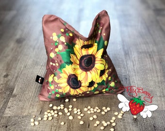 Sunflower Lover Gift, Cherry Pit Pillow , Gift Idea fir Mom, Micowaveable Heat Pad,  Pain Relief, Colucs in Babies, Flower Girl Gift