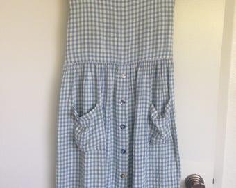 Blue Gingham Summer Dress