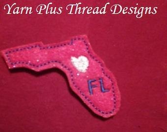 Florida Feltie Embroidery Design