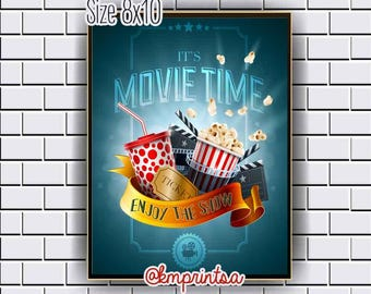 Movie, Cinema,Film, Hollywood decor,wall art