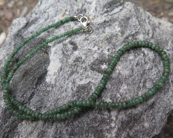 Emerald Necklace with 925 Silver - special offer -
