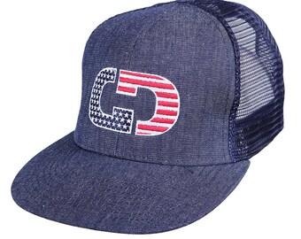 GIMMEDAT Liberty Flat Bill Trucker Hat - Free Shipping!