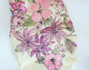 Vintage shantung silk scarf